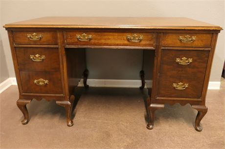 Wooden Home Office Desk with Brass handles