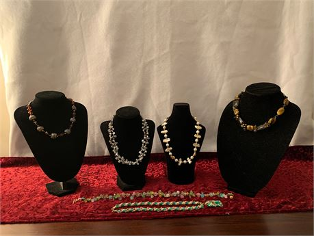 Lot of 6  Artisan Necklaces