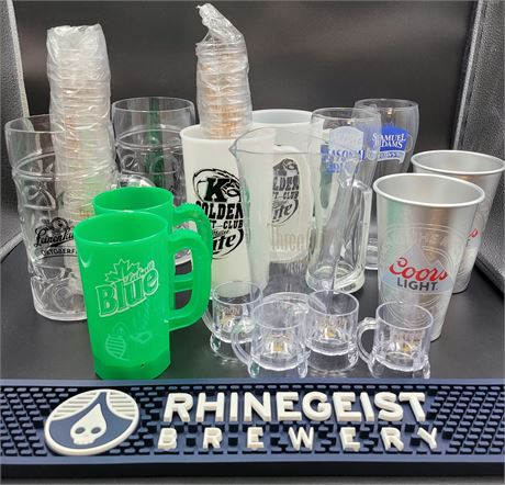 Miscellaneous Bar Glasses, Shot Glasses, and Mugs