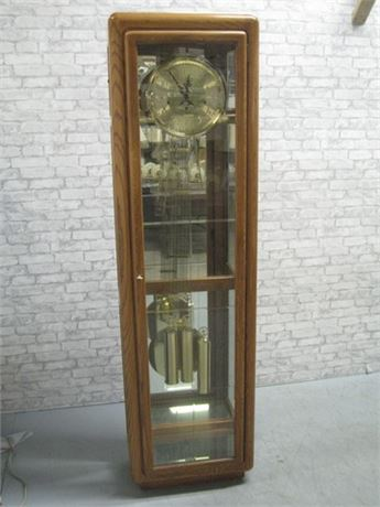 RIDGEWAY PENNINGTON OAK GRANDFATHER CLOCK