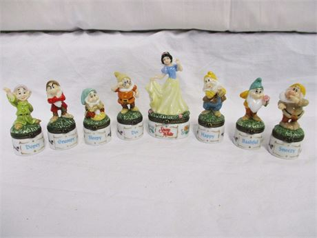 COMPLETE SET PHB MIDWEST SNOW WHITE AND THE SEVEN DWARFS TRINKET BOXES