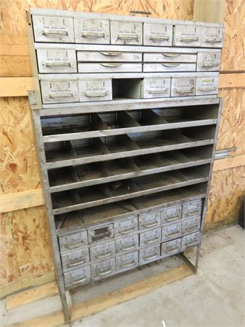 Vintage EQUIPTO Steel Industrial Tool and Parts Cabinet