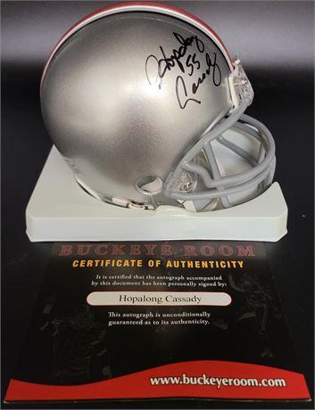 "Howard ""Hopalong"" Cassady Hand Signed Ohio State Mini Helmet"