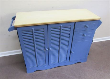 BLUE PAINTED COUNTRY STYLE CABINET
