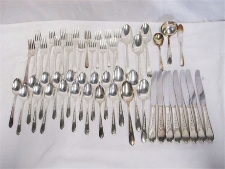 WM ROGERS PRISCILLA - LADY ANN SILVERPLATE FLATWARE