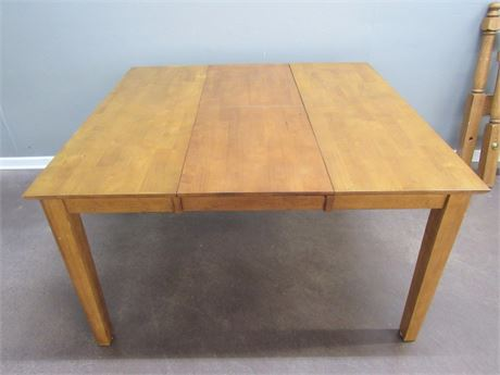 """Arhaus Dining Table with Built-in 18"""" Folding Leaf"""