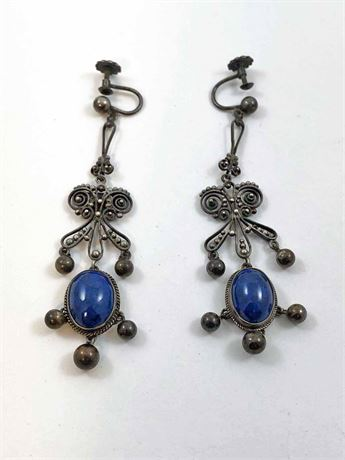 Peruzzi Sterling Lapis Earrings