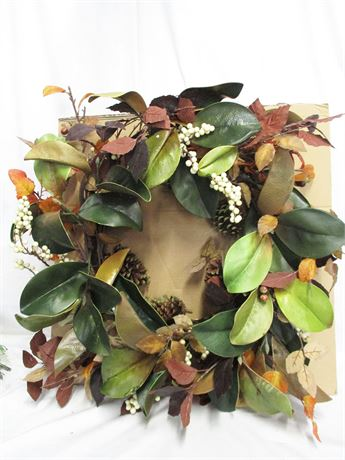 LOT OF DECORATIVE WREATHS FEATURING GRANDIN ROAD