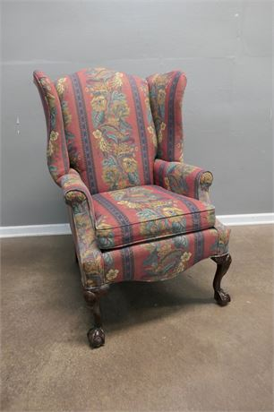 Century Furniture Co. LT Designs Wing Back Chair with Claw feet