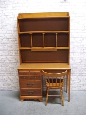 NICE DESK WITH HUTCH AND CHAIR