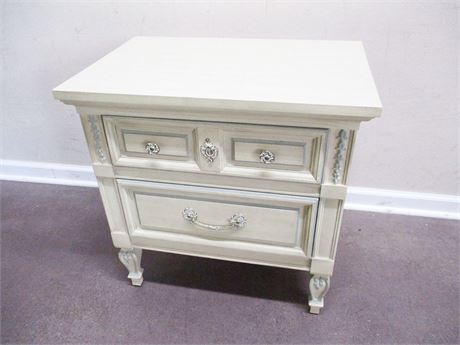 DIXIE 2-DRAWER FRENCH PROVINCIAL NIGHTSTAND