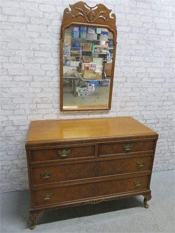 Vintage NORTHERN FURNITURE Dresser & Mirror