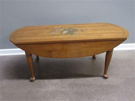 Stencil Top Drop-leaf Coffee Table