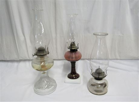 3 Kerosene/Oil Lamps