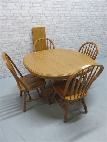Oak Pedestal Dinette Set