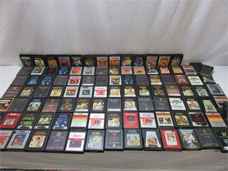 Over 100 Vintage Atari Game Lot