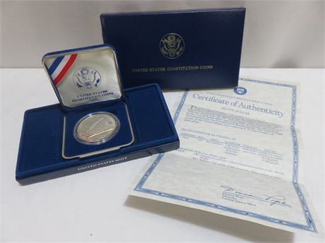 1987 United States Constitution Coin Series Silver Dollar