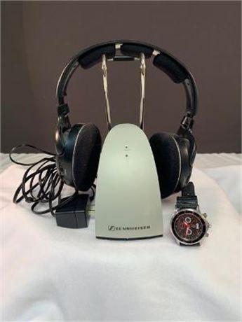 Sennheiser Headphones and Watch
