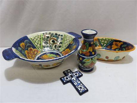 4-Piece Mexican Pottery Lot
