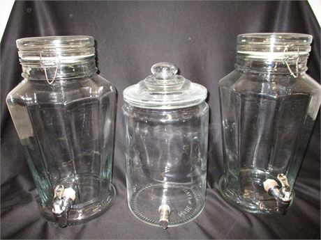 LOT OF 3 BEVERAGE DISPENSERS