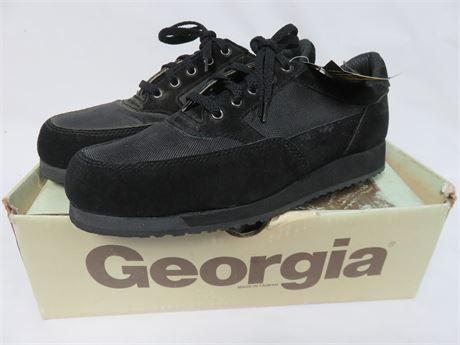 GEORGIA BOOTS Men's Steel Toe Work Shoes - SIZE 8M