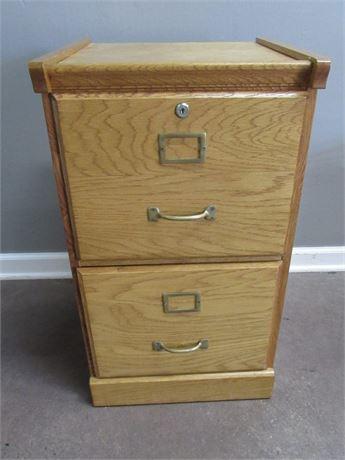 2-Drawer Oak File Cabinet