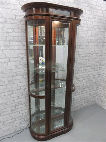 Lighted Cherry Curio Cabinet