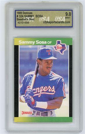1989 Donruss Baseball's Best Sammy Sosa USA 9.0