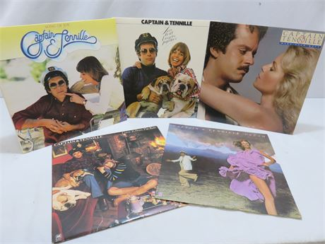 Vintage CAPTAIN & TENNILLE Record Album Lot