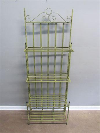 Vintage Look Green Metal Backer's Rack