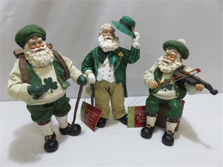 DEPARTMENT 56 Possible Dreams Clothtique Irish Santa Figurine Lot