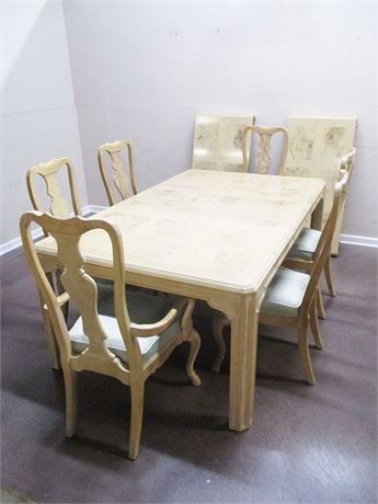 """CORINTHIANS"" BY HERITAGE DINING ROOM SET WITH PADS"