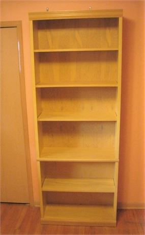 TALL DISPLAY/BOOKCASE WITH 6 SHELVES