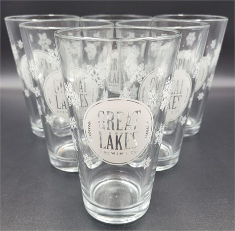Great Lakes Brand New Case of 24 Holiday Printed Pint Glasses