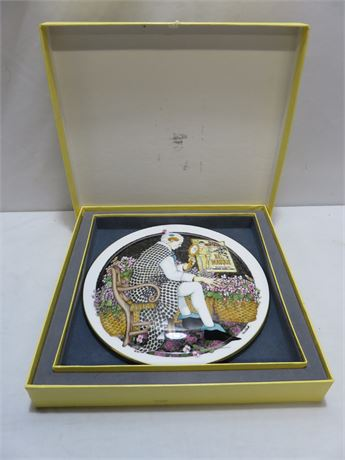 "ROYAL DOULTON Limited Edition Behind The Painted Masque ""Make Me Laugh"" Plate"
