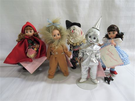 5 VINTAGE MADAME ALEXANDER DOLLS - WIZARD OF OZ AND LITTLE RED RIDING HOOD