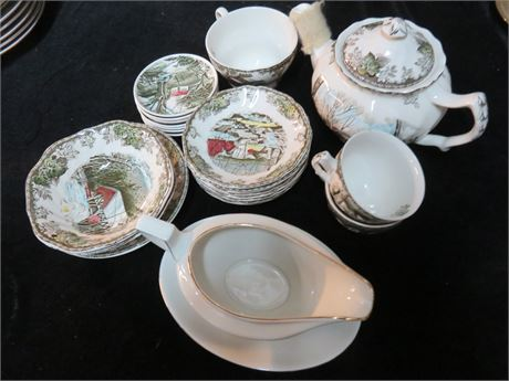 JOHNSON BROS. 23-Piece China Lot