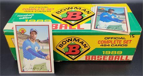 Ken Griffey Jr Rookie Card with Complete 1989 Bowman Baseball Set