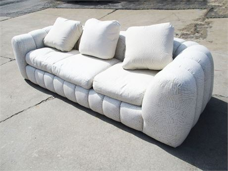 NEUTRAL CHANNELED SOFA BY JAY SPECTRE FOR CENTURY FURNITURE