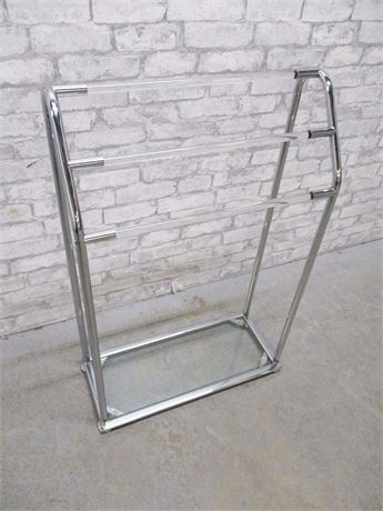 LUCITE AND CHROME TOWEL RACK