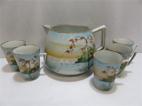 Vintage Tohina Hand-Painted Nippon Pottery