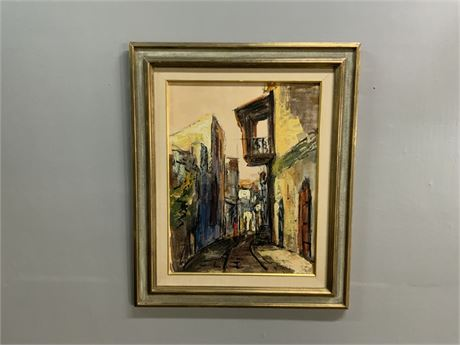 Abstract Alleyway Oil Painting