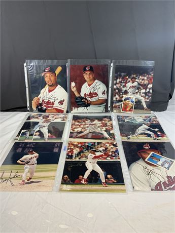 1990's Cleveland Indians AUTOGRAPH Photo Lot