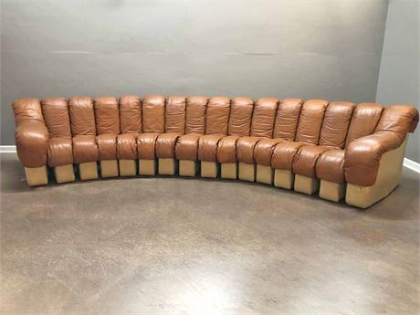 Retro Mid Century Stendig  Leather Sectional