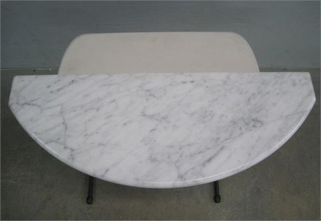 THICK MARBLE DEMILUNE TABLE TOP SLAB (Only)