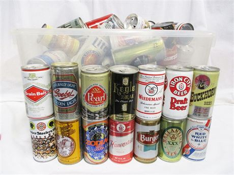 ANOTHER LOT OF VINTAGE BEER CANS