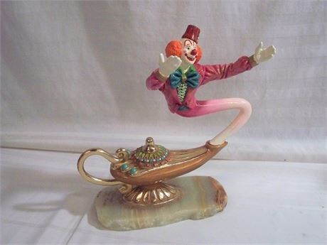 SIGNED AND NUMBERED RON LEE CLOWN/GENIE SCULPTURE