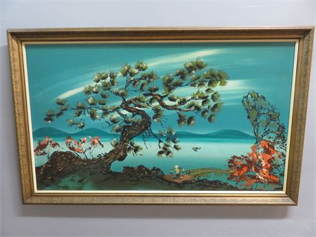Asian Seaside Board Painting