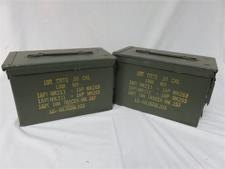 O.D. Green Military Surplus .50 Cal Ammo Boxes