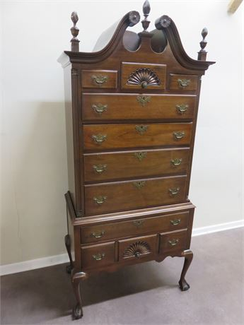 HATHAWAY'S Queen Anne Highboy Chest of Drawers